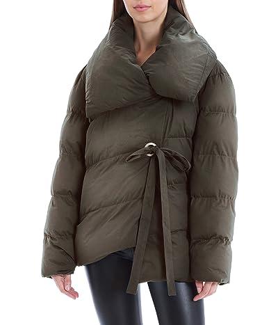 Avec Les Filles Vegan Leather Asymmetric Puffer (Olive) Women