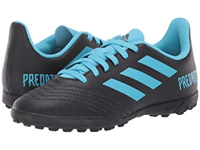 adidas Kids Predator 19.4 TF Soccer (Little Kid/Big Kid) (Black/Bright Cyan/Solar Yellow) Kids Shoes