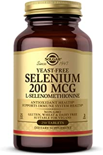 Solgar Yeast-Free Selenium 200 mcg, 250 Tablets - Supports Antioxidant & Immune System Health - Non-GMO, Vegan, Gluten Fre...