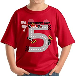 Birthday Boy Youth Shirt Race Cars 5th Birthday Party B-Day Gifts