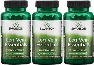 Swanson Leg Vein Essentials - Delayed Release 60 Veg Drcaps 3 Pack