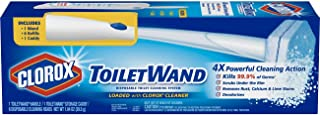 Clorox ToiletWand Disposable Toilet Cleaning System - ToiletWand, Storage Caddy and 6 Disinfecting ToiletWand Refill Heads