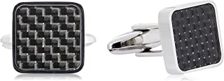 Van Heusen Men's Mini Shell Checkers Cufflinks, Silver