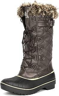 Women's DP Warm Faux Fur Lined Mid Calf Winter Snow Boots
