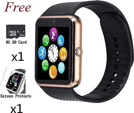 Smart Watch,Bluetooth Touch Screen Watch Phone for Android iPhone Pedometer Smartwatch Sport Wrist Watch Compatible Samsung iOS Men Women Kids