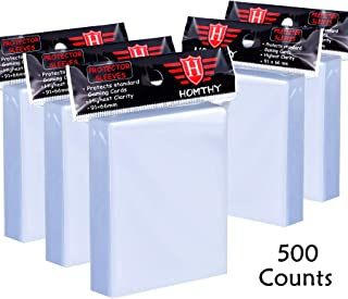 500 Counts Card Sleeves Toploaders for Trading Card, Soft Clear Baseball Card Sleeves Fit for Football Card, Sports Cards,...