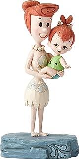 "Hanna-Barbera by Jim Shore ""The Flintstones"" Wilma and Pebbles Stone Resin Figurine, 5.5"""