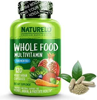NATURELO Whole Food Multivitamin for Men 50+ - with Natural Vitamins, Minerals, Organic Extracts - Vegan Vegetarian - for ...