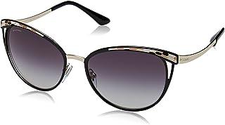 Bvlgari BV6083 20188G Black/Gold BV6083 Cats Eyes Sunglasses Lens Category 3