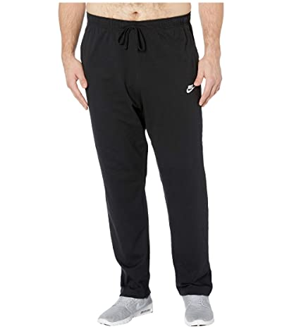 Nike Big Tall NSW Club Pants Open Hem Jersey (Black/White) Men