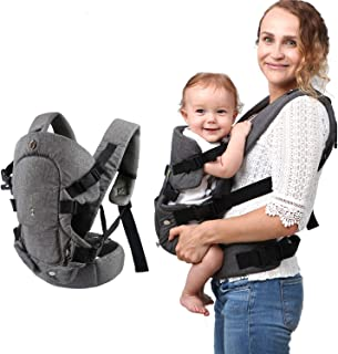 Baby Convertible Carrier, All Carry Position Newborn to Toddlers Ergonomic Carrier with Soft Breathable Air Mesh and All A...