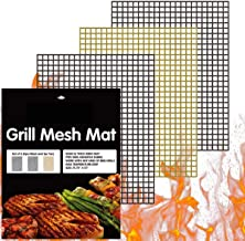XRS Grill Mats Non Stick Set of 3, Grill Mesh Nonstick BBQ Grill Mat Grilling Mats for Gas Grill Charcoal Electric Nonstick Grill Mat Grilling Accessories, 15.75 x13 inches