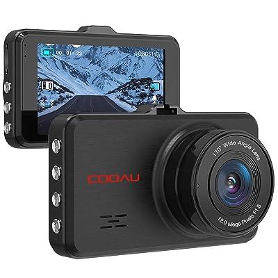 COOAU Dash Cam 1080P Full HD Night Vision