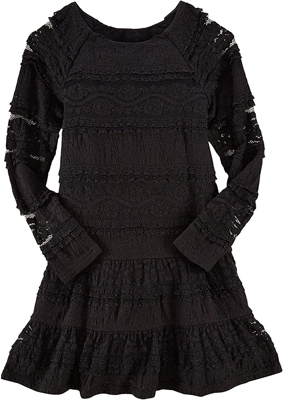 Polo Ralph Lauren Girls Black Stretch 5 Soldering Lace Max 87% OFF Dress