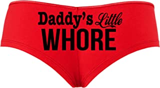 Knaughty Knickers Daddy's Little Whore Fun Flirty Red boy Short Panties DDLG