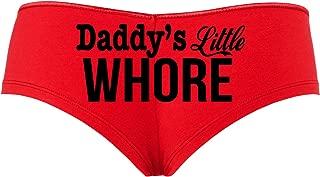 Daddy's Little Whore Fun Flirty Red boy Short Panties DDLG