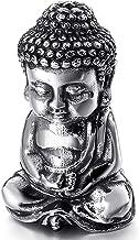 Sculpture Zen Buddha Statue Decoration Meditation Religious Stainless Steel Shakyamuni Sculpture, Home Office Ornament Gif...