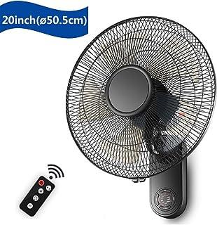 N / A 5 aspas del Ventilador Pared Tranquila con Temporizador de Control Remoto 7,5H, los Modos oscilantes 3/3 Velocidad para la ventilación de Aire Interno, 16in / 20in,18in (50.5cm)