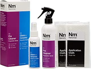 Glass Shower Door Cleaner & Repellent. Water Repellent for Glass. Twin Pack Inc. Cleaner and Latest Nano Coating Technology Spray, Works with All Glass and Screens (Including Cellphone Screens)