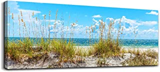 Wall Art for living room Print Artwork Wall Art Decor Poster Blue beach grass ocean Landscape painting bedroom wall Decorations Seascape Canvas Prints Picture Home Office bathroom wall Works Decor