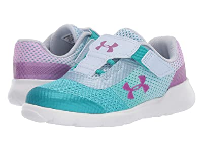 Under Armour Kids UA Inf Surge Running (Toddler) (Breathtaking Blue/Moonstone Blue/Optic Purple) Girls Shoes