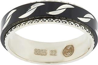 Aurora Women's Silver Black and Silver Dubla Ring
