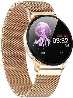 Gymqian Aptitud de la Manera Inteligente Las Mujeres Del Reloj Ejecución de Monitor de Ritmo Cardíaco Bluetooth Podómetro Táctil Inteligente Deportes Smartwatch para Hombres de Las