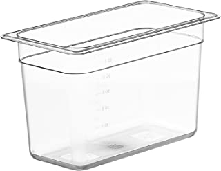 LIPAVI Sous Vide Container Model C5 – 1.75 Gallon, 12.7 X 7 Inch, Height 8 Inch. Strong, Clear Polycarbonate. Matching Lid...