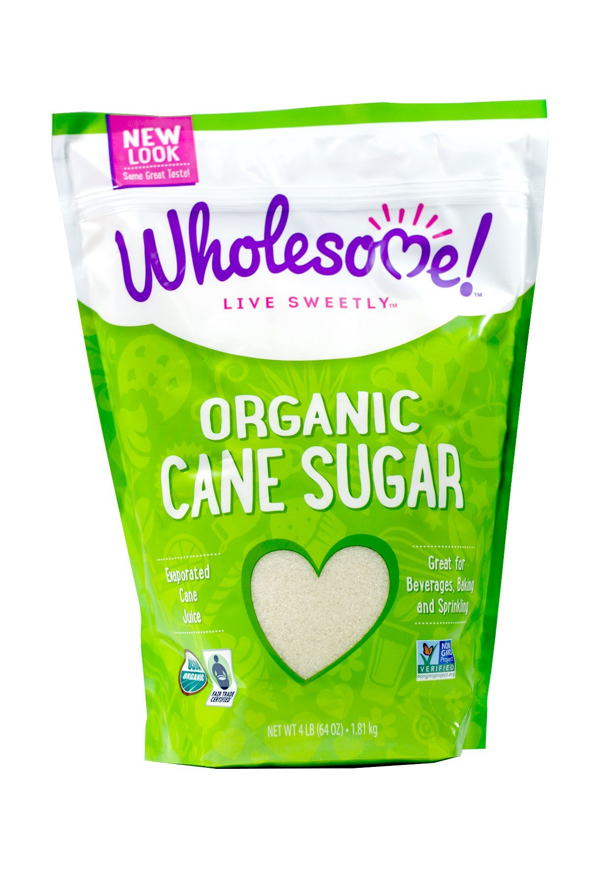 Wholesome Sweeteners Sugar, Og, Ft, 64-Ounce