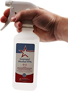 Healthstar 99% 16 Ounce Isopropyl Alcohol Spray – Cleans, Disinfects, Relieves Muscle Pain, First Aid Antiseptic for Treatment of Minor Cuts and Scrapes