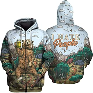 Mens Hoodie Sweater Golden Dragon Broncefigur Gold Yizzam Allover Print