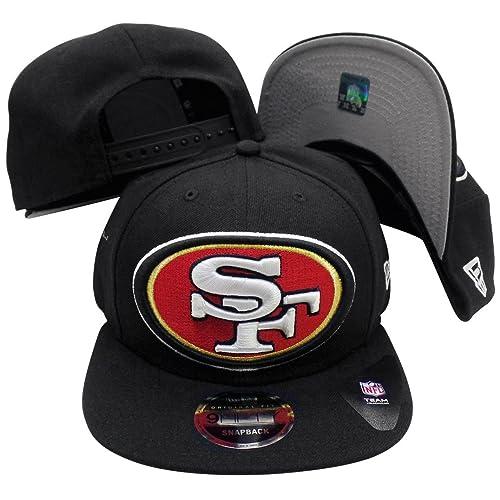 676864a3820 San Francisco 49ers Black Logo Grand 9FIFTY Adjustable Snapback Hat   Cap