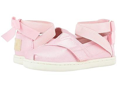 TOMS Kids Alpargata Ballerina (Toddler/Little Kid) (Pink Shiny Glitz) Girl