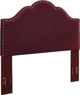 Crosley Furniture CF90007-601ME Preston Camelback Upholstered Headboard, King/Cal King, Merlot Microfiber