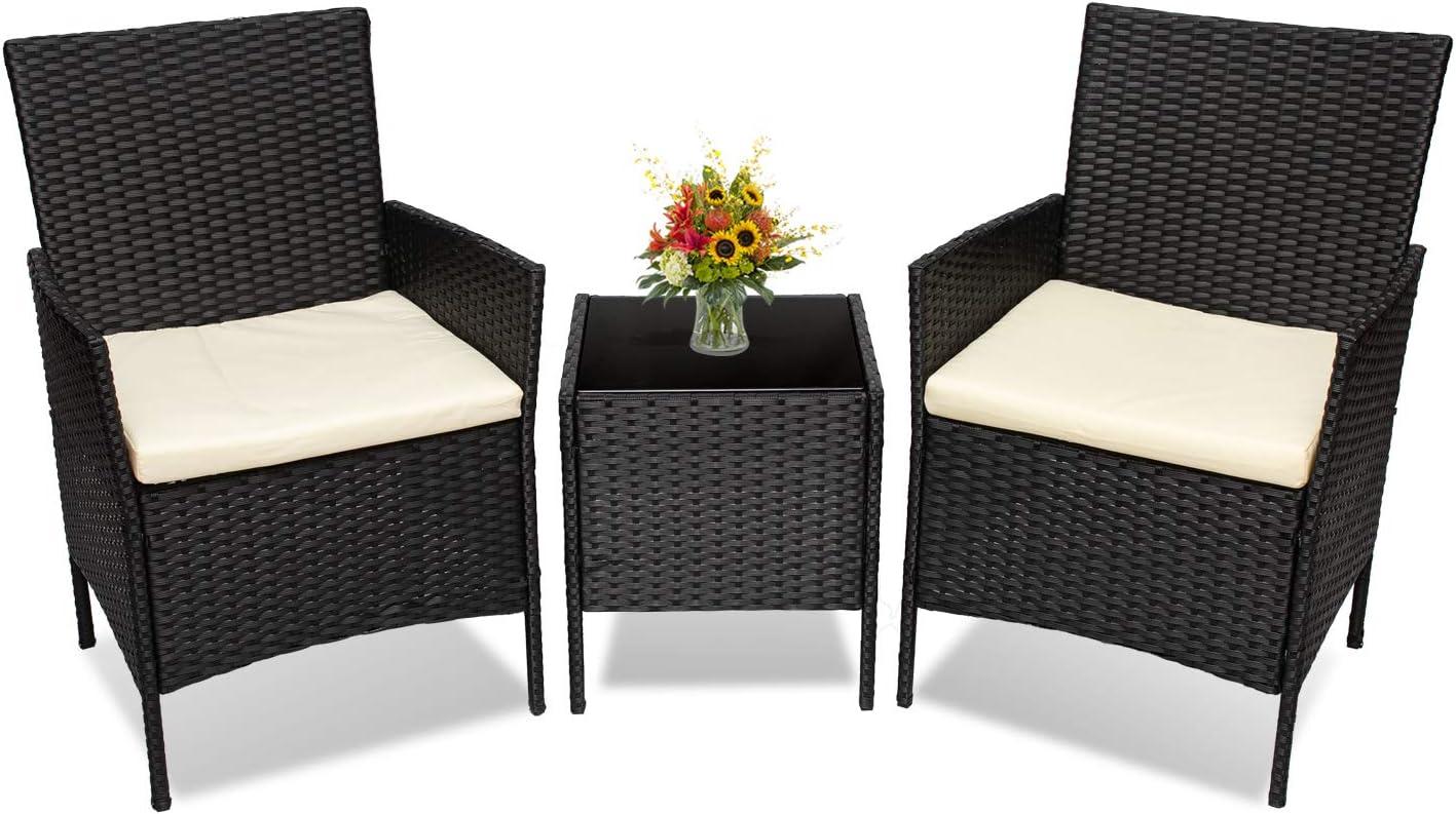 Spring new work Go Light Cheap mail order sales 3 Piece Patio Conversation Outdoor Set Furniture Wicker