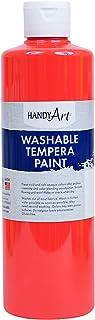 Handy Art Washable Paint 16 ounce, Fluorescent Hot Pink