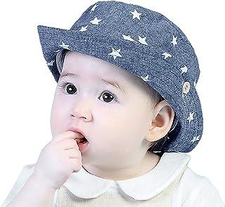 GEMVIE Chapeau de soleil pour bébé garçon - En coton - Protection UV - Avec imprimé étoile