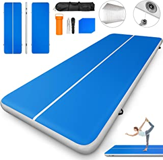 Happybuy 10ft 13ft 16ft 20ft 23ft 26ft 30ft Air Track 8 inches Airtrack 4 inches Inflatable Air Track Tumbling Mat for Gymnastics Martial Arts Cheerleading Tumble Track Without Pump