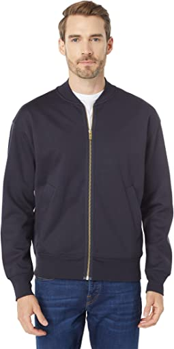 Relaxed Fit Zip-Thru Bomber Sweat