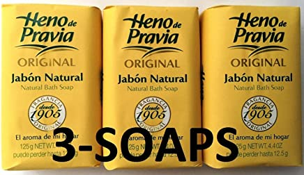 Heno De Pravia Soap LARGE 4.4 oz. Ea. ORIGINAL (3 Soaps Total)