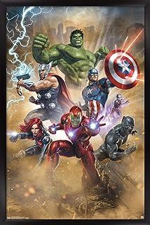 "Trends International Marvel Cinematic Universe - Avengers - Fantastic Wall Poster, 22.375"" x 34"", Black Framed Version"