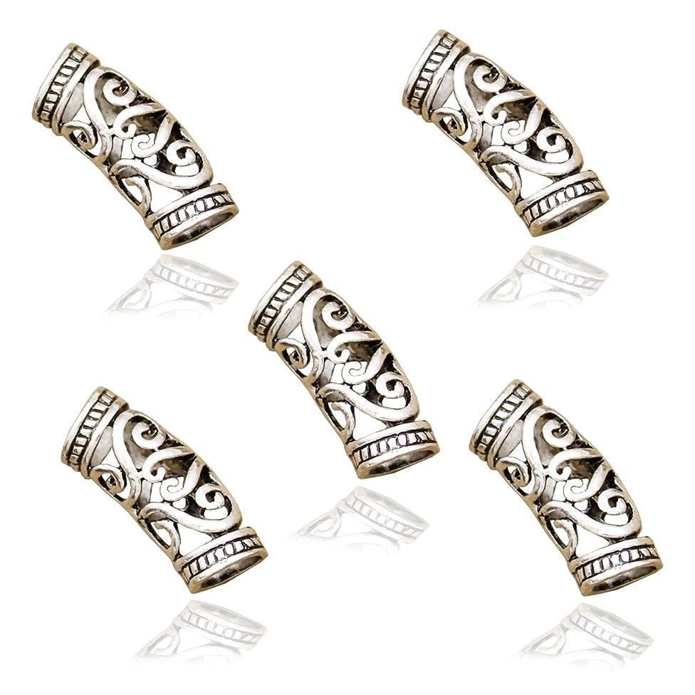 RechicGu Pack 5 Norse Viking Swirl Beard Bead Rasta Dreadlocks Braid Headband Hair Dress Clip Pin