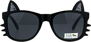 Girls Sunglasses Kitty Cat Whiskers Ears Frame Kid's...