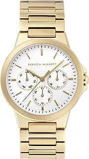 Rebecca Minkoff Women's Quartz Watch with Stainless Steel Strap, Gold, 20 (Model: 2200357)