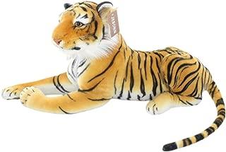JESONN Realistic Big Stuffed Animals Tiger Plush Cat Toys 23.6 Inch (Brown)