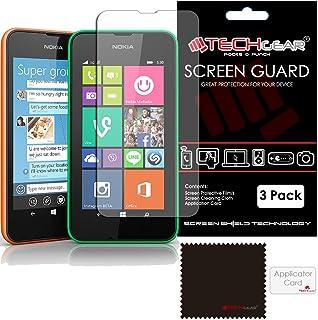 TECHGEAR [Paket med 3] ANTI GLARE skärmskydd för Lumia 530 - MATTE LCD-skärmskydd skydd skydd skydd kompatibel med Nokia L...
