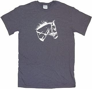 Horse Head with Bridle Logo Little Boy's Kids Tee Shirt