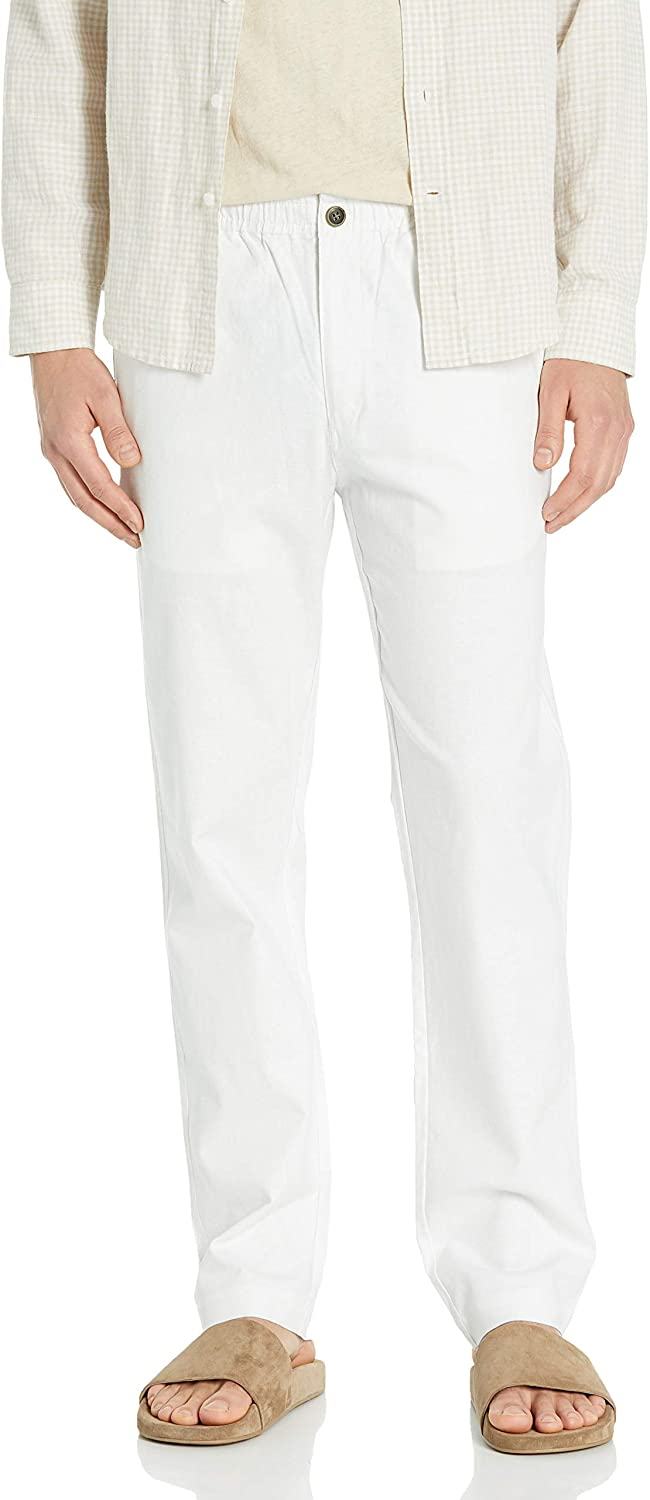 28 Palms Men's Slim-Fit Stretch Max 79% OFF Drawstring with 5 ☆ popular Linen Pant