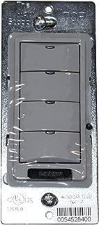 Watt Stopper LMSW-104 Gray 4-Button Digital Wall Switch 24VDC 5mA Occupancy Sensor