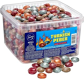 Fazer Tyrkisk Peber Hot & Sour - Original - Finnish - Liquorice - Licorice - Salmiak - Salmiac - Salmiakki - Fruity - Pepper - Hard - Boiled - Caramel - Candies - Sweets - Box 2,2 kg